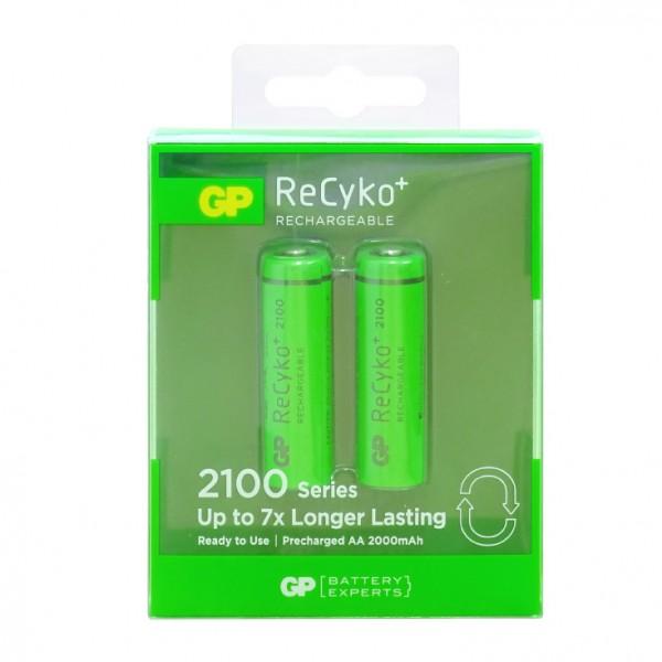 GP punjive baterije AA 2000 mAh 210AAHCE-2GBE2-RECYKO