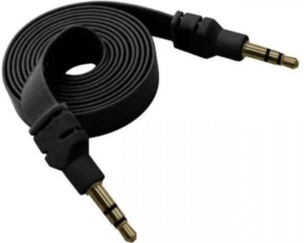 FAST ASIA Kabl flat audio 3.5mm MM 1m crni