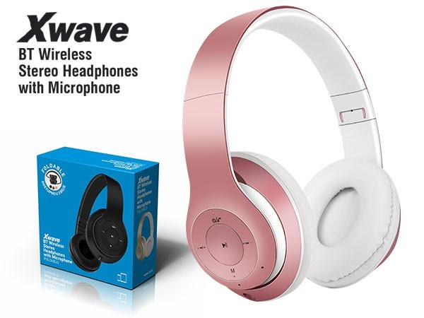 BT stereo slusalice sa mikrofonom v4.2,FM,microSD,Baterija 200mAh,8-9h razgovor,10m udaljenost,Pink ( 85214 )