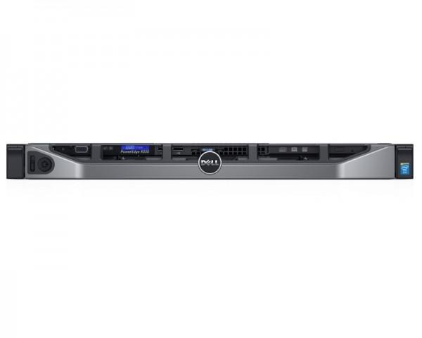 DELL PowerEdge R330 Xeon E3-1230 v6 4C 1x8GB H330 1x1TB SATA SD DVDRW 350W (1+1) 3yr NBD + sine za rack (static rails)