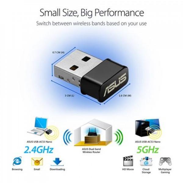 NET ASUS USB Wireless USB-AC53 nano