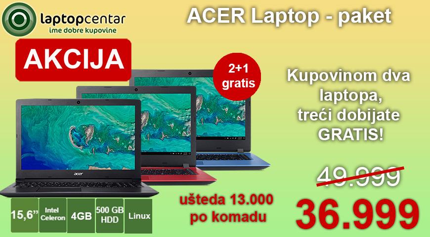 3 laptopa Acer