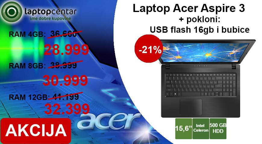 Acer - 3 memorije