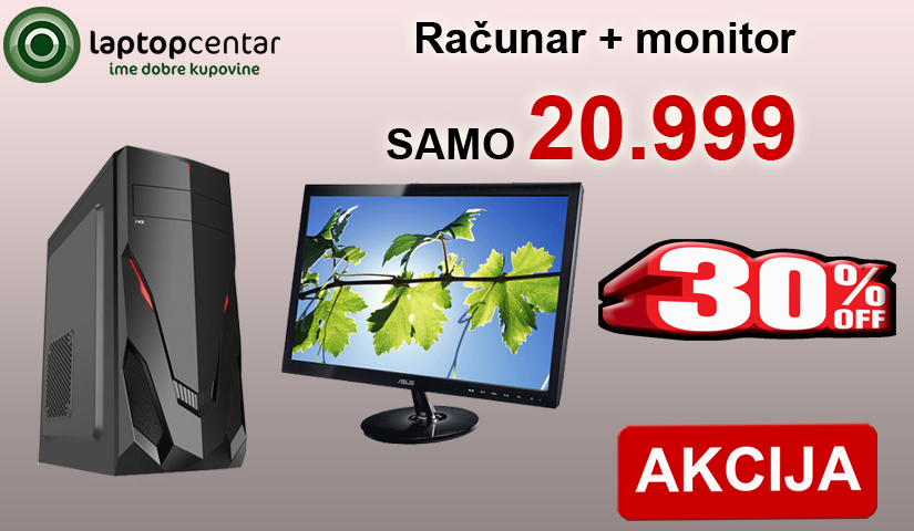 racunar + monitor